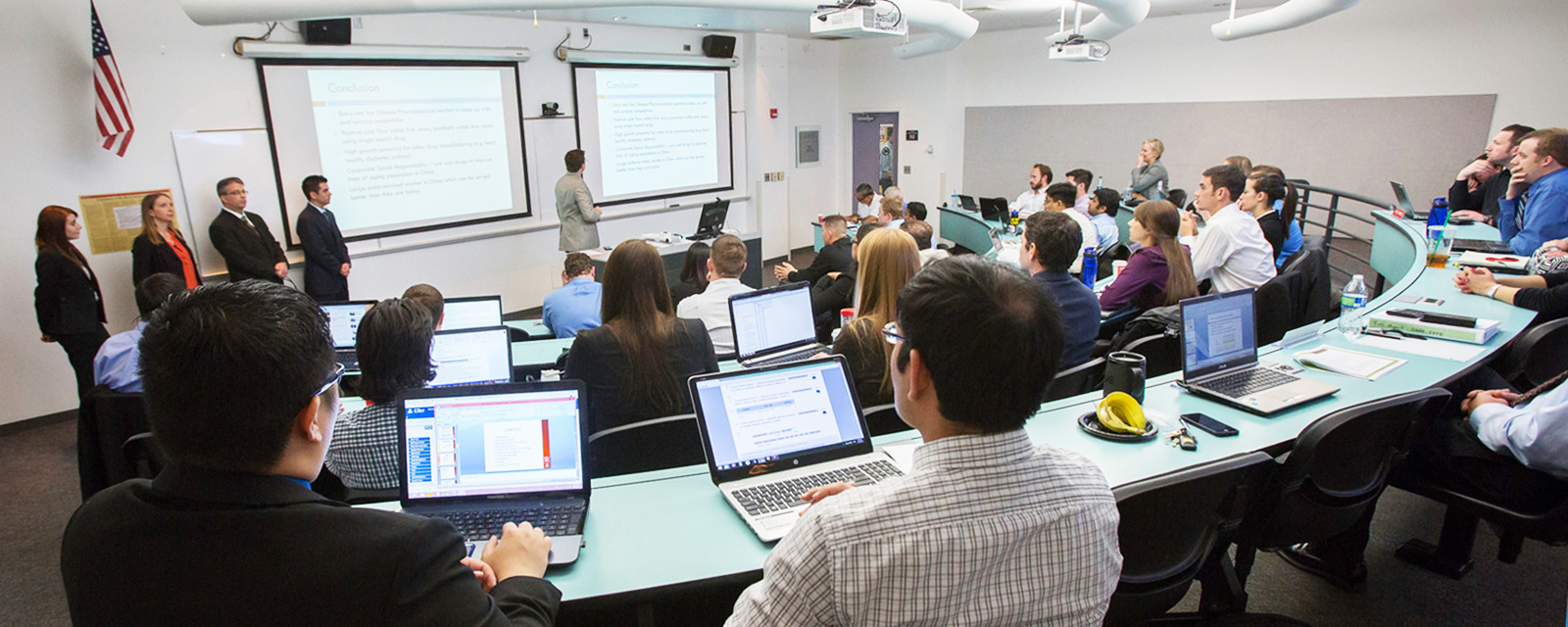 Photo of students in a computer class