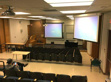 Picture from the back of a classroom